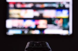 A first-person perspective of channel surfing.